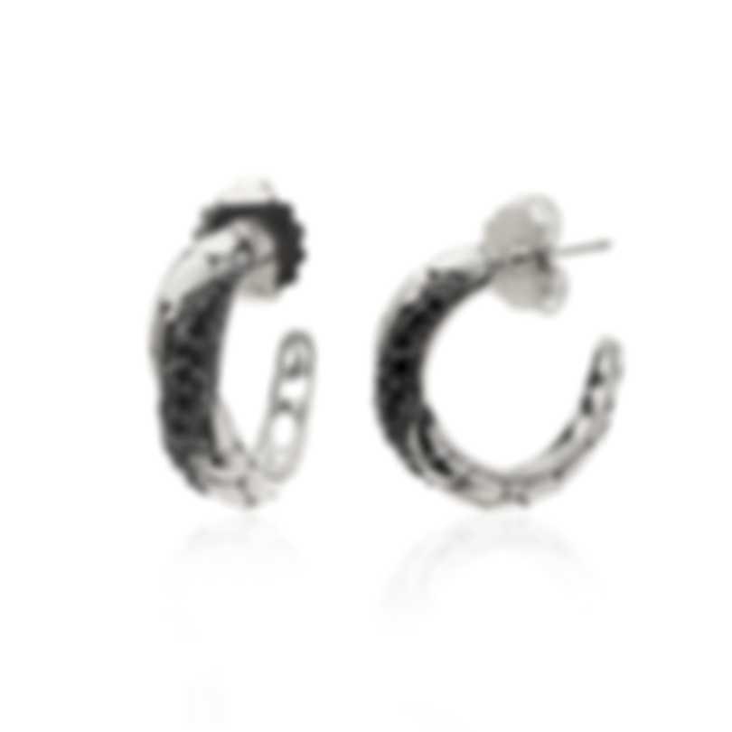John Hardy Sterling Silver And Black Sapphire Kali Earrings EBS20295BLS