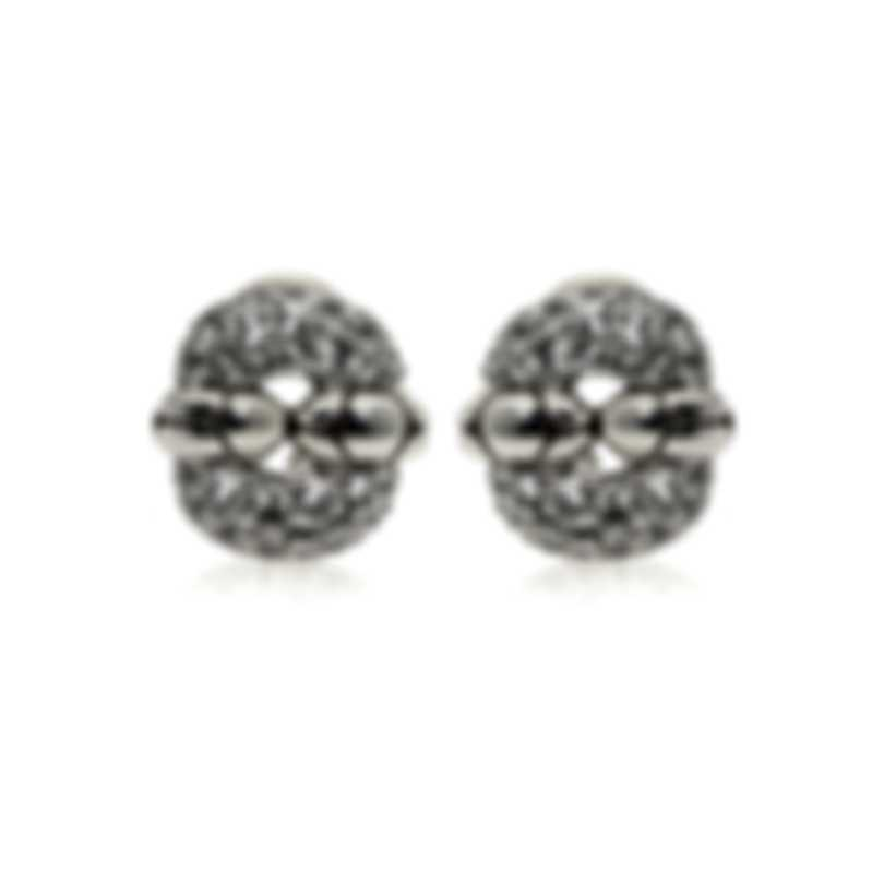 John Hardy Sterling Silver And White Topaz Kali Earrings EBS2316WT
