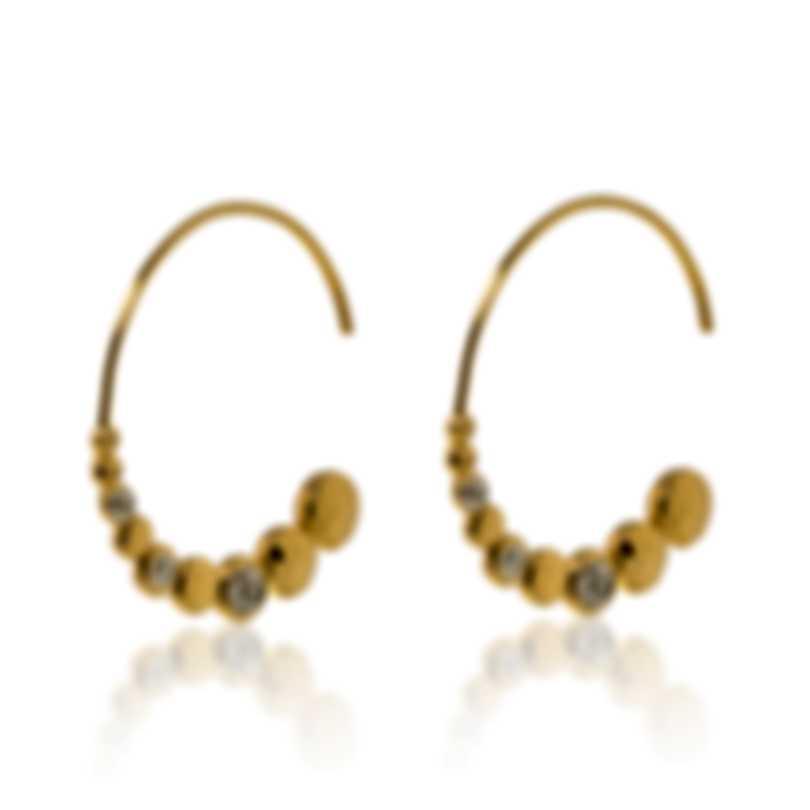 John Hardy Dot 18k Yellow Gold Diamond 0.07ct Earrings EGX300442DI