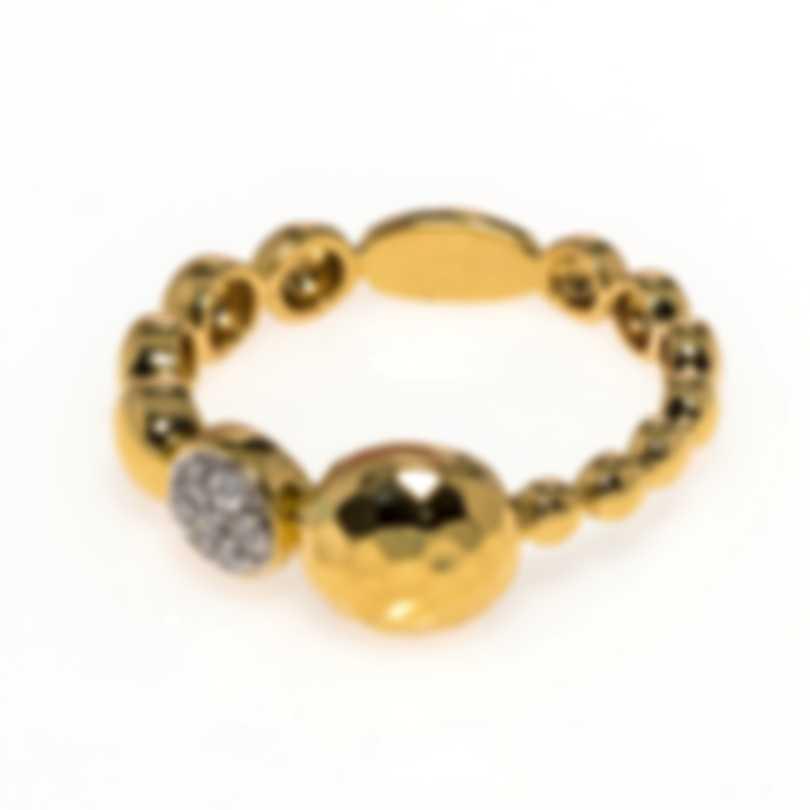John Hardy Dot 18k Yellow Gold Diamond 0.09ct Ring Sz 7 EGX300512DIX7