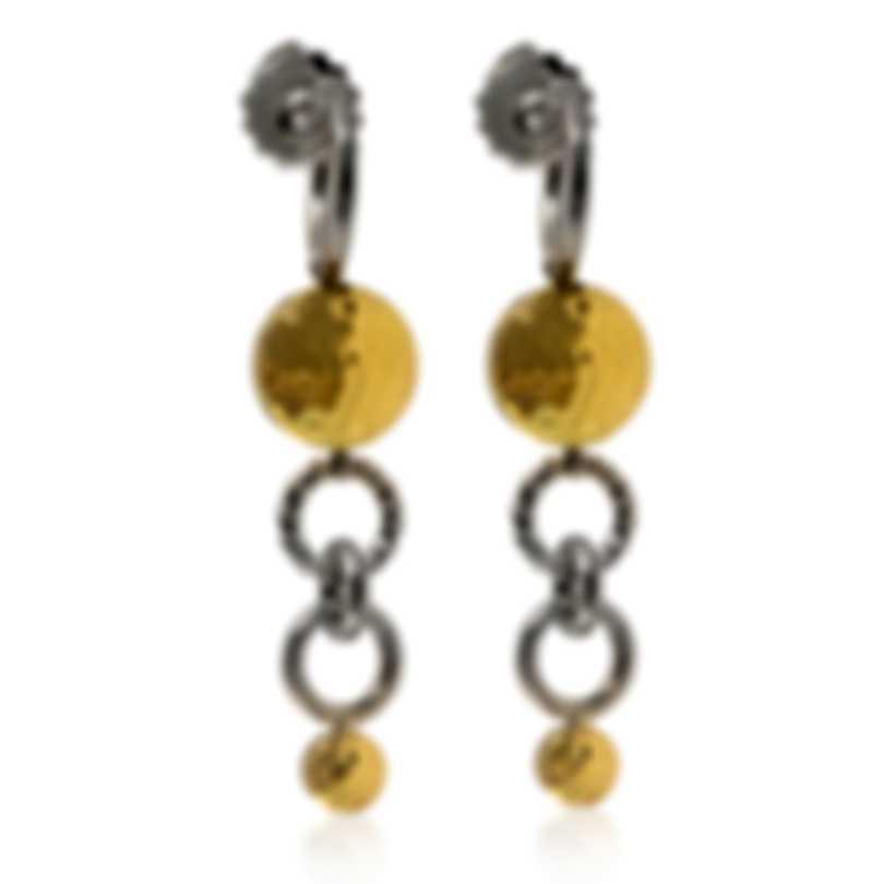 John Hardy Dot Sterling Silver And 18k Yellow Gold Earrings EZ34010