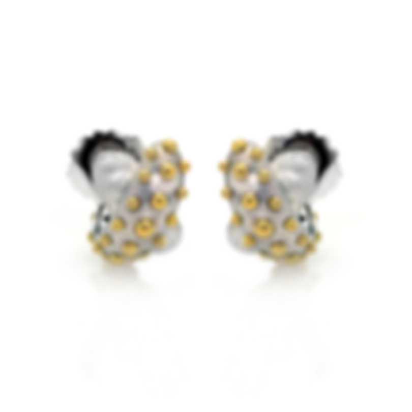 John Hardy Sterling Silver And 18k Yellow Gold Dot Earrings EZ39037