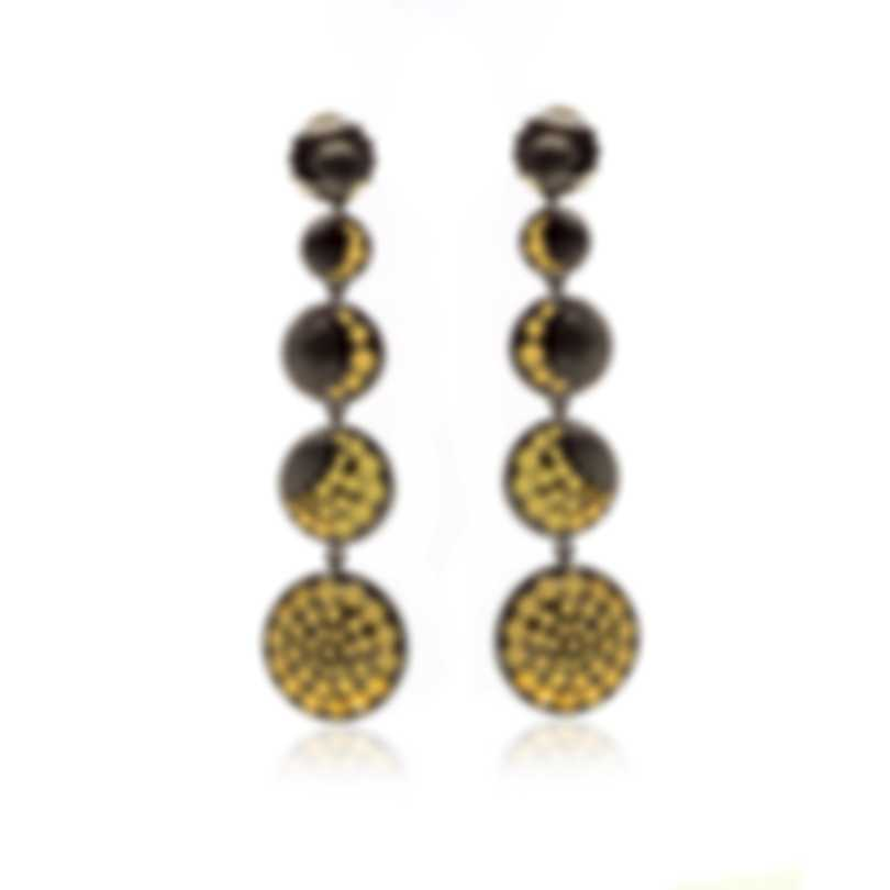 John Hardy Dot Moon Phase Sterling Silver And Gold Earrings EZ39059BRD