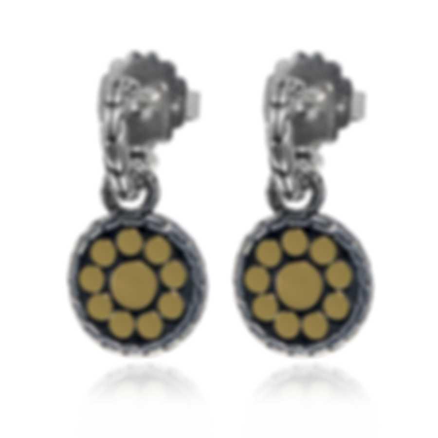 John Hardy Dot Sterling Silver And 18k Yellow Gold Earrings EZ33748
