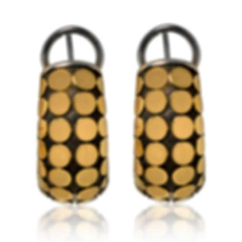 John Hardy Dot Sterling Silver And 18k Yellow Gold Earrings EZ33957