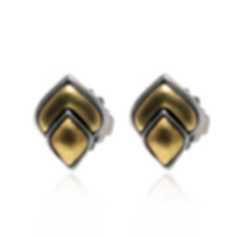 John Hardy Legends Naga Sterling Silver And 18k Yellow Gold Earrings EZ650112