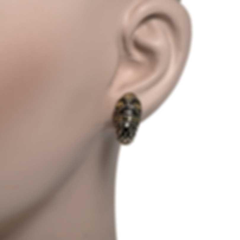 John Hardy Naga Shrimp Sterling Silver And 18k Yellow Gold Earrings EZ65036