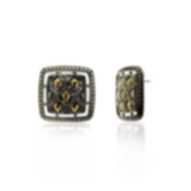 John Hardy Sterling Silver And 18k Yellow Gold Legends Earrings EZ65329