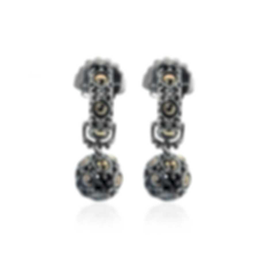 John Hardy Sterling Silver And 18k Yellow Gold Dot Earrings EZ62102