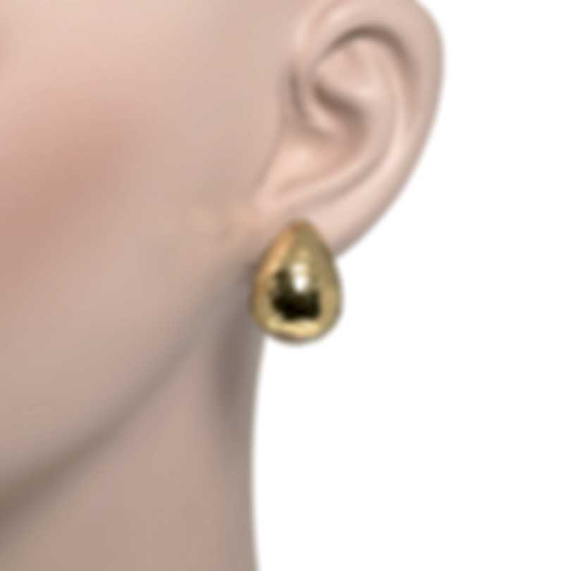 John Hardy Classic Chain Sterling Silver And 18k Yellow Gold Earrings EZ97185
