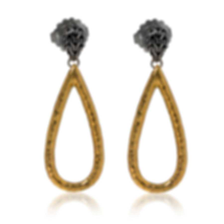 John Hardy Classic Sterling Silver And 18k Yellow Gold Earrings EZ999582