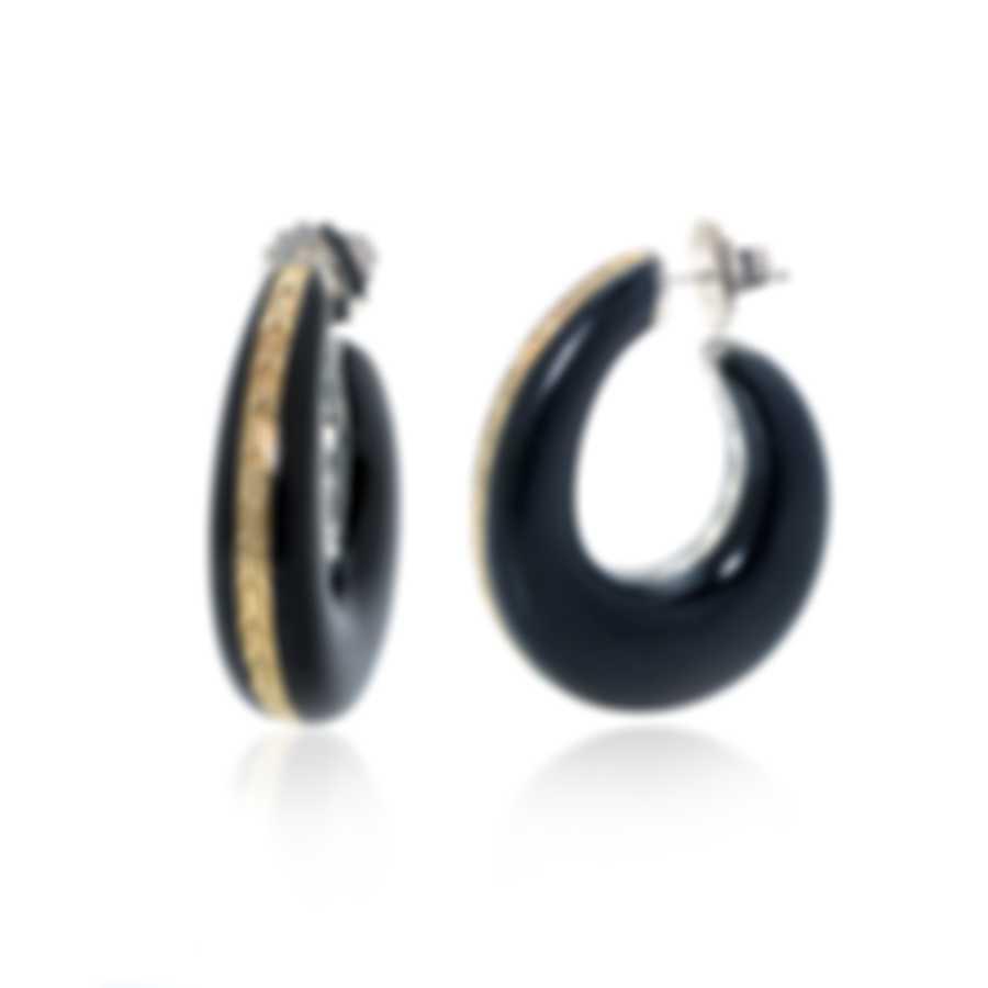 John Hardy Sterling Silver And 18k Yellow Gold Chain Earrings EZ999605DW