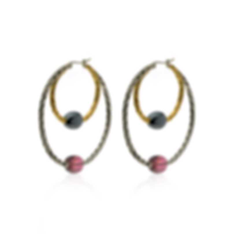 John Hardy Sterling Silver, 18k Gold & Tourmaline Chain Earrings EZS903111MIPTHE