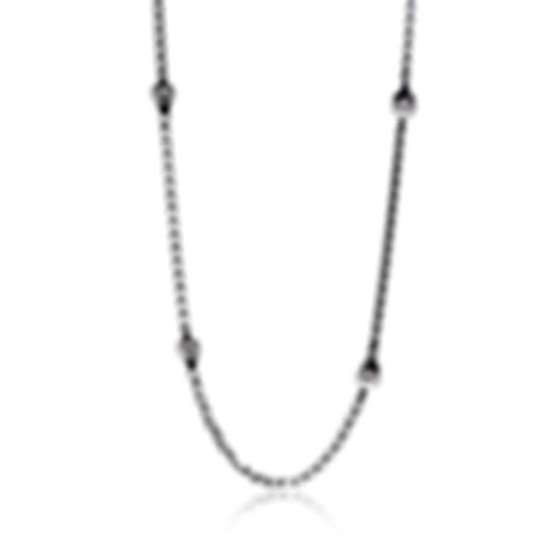John Hardy Bamboo Sterling Silver And White Freshwater Pearl Necklace NB5991X36