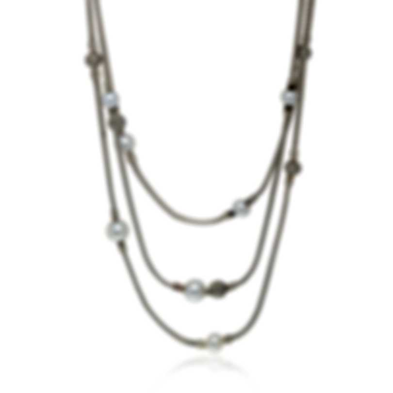 John Hardy Sterling Silver And Pearl Necklace NB90667X16-18