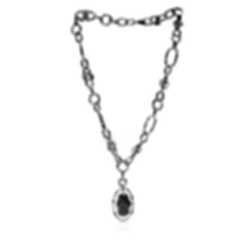 John Hardy Sterling Silver Diamond Bamboo Necklace NBP5084DIX18