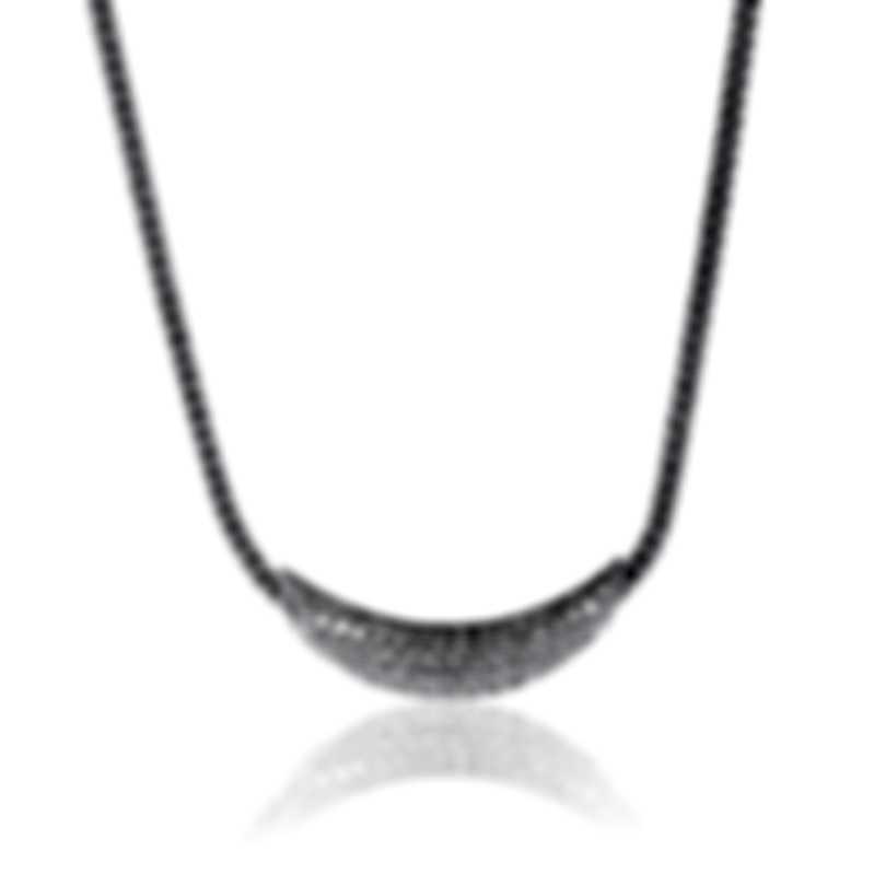 John Hardy Classic Chain Sterling Silver Diamond Necklace NBP900402DIX16-18