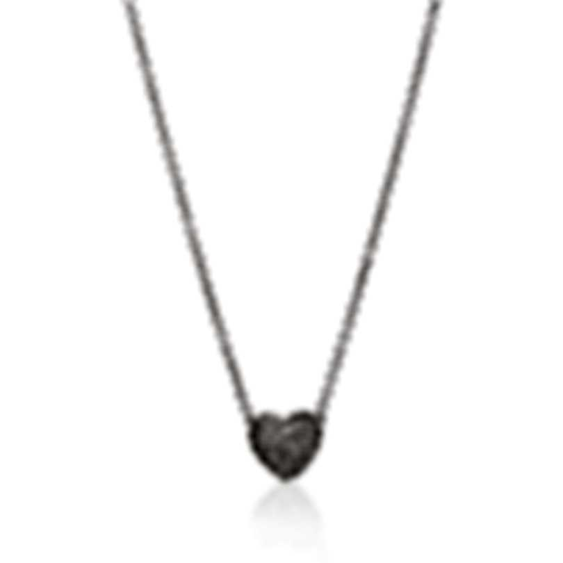 John Hardy Classic Chain Sterling Silver Diamond 0.2ct Necklace NBP903962DIX16