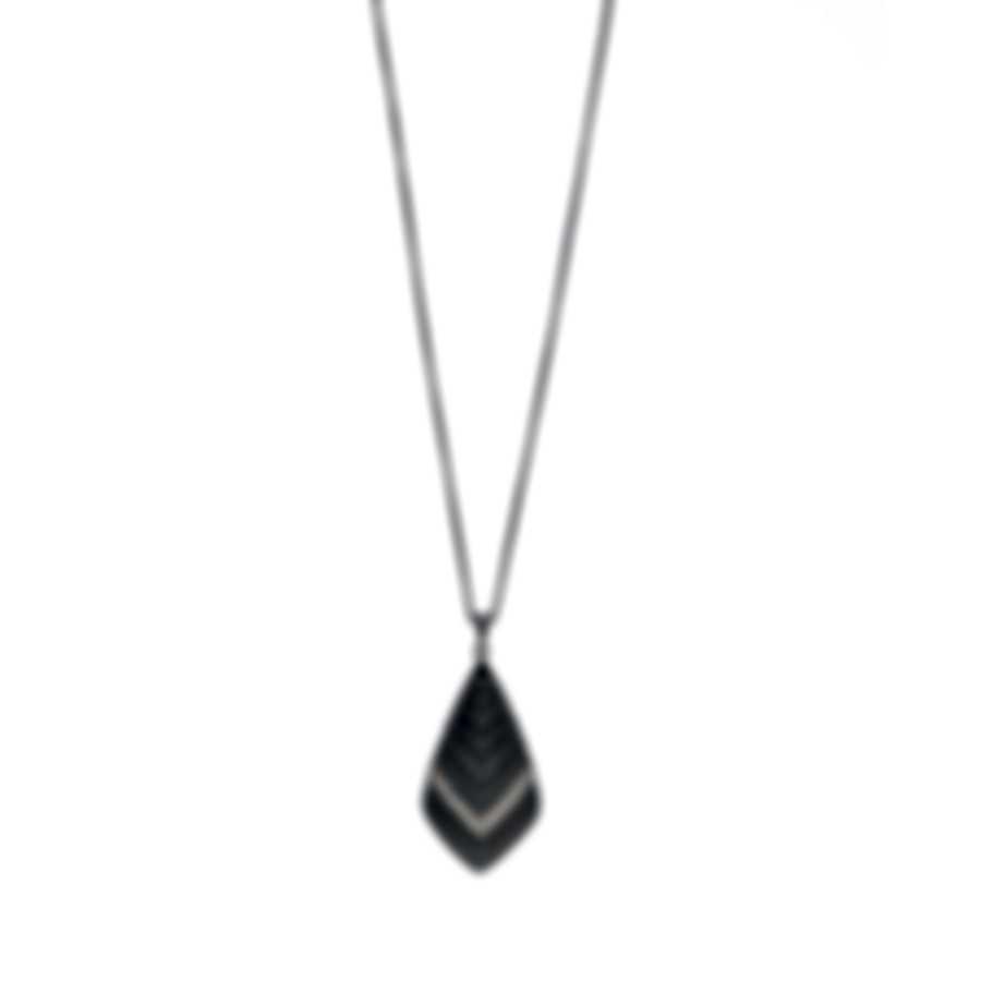 John Hardy Modern Chain Sterling Silver Diamond Necklace NBP951352BHMBRDDIX36
