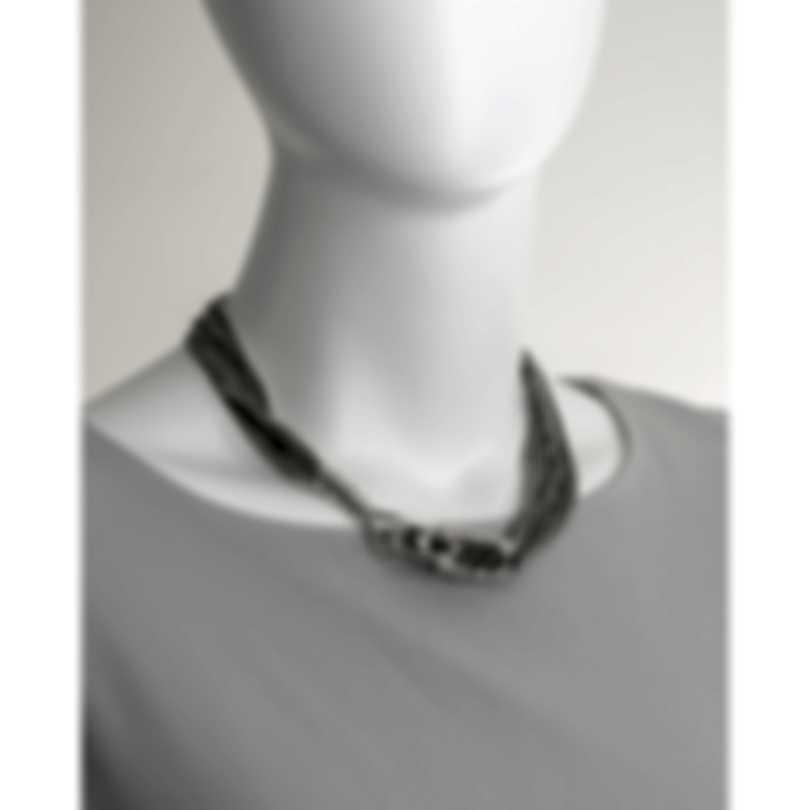 John Hardy Legends Naga Sterling Silver Black Spinel Necklace NBS6501174BLSBNX1