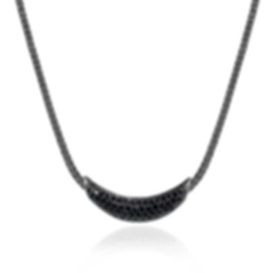 John Hardy Sterling Silver And Black Sapphire Necklace NBS900404BLSBNX1