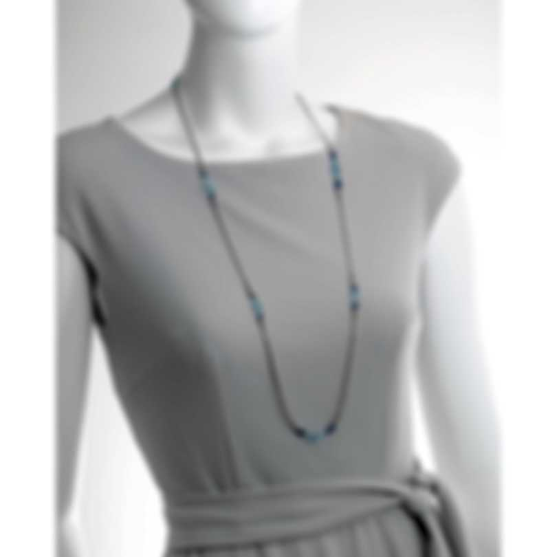 John Hardy Classic Chain Sterling Silver & Aquamarine Necklace NBS902231AQKNX36