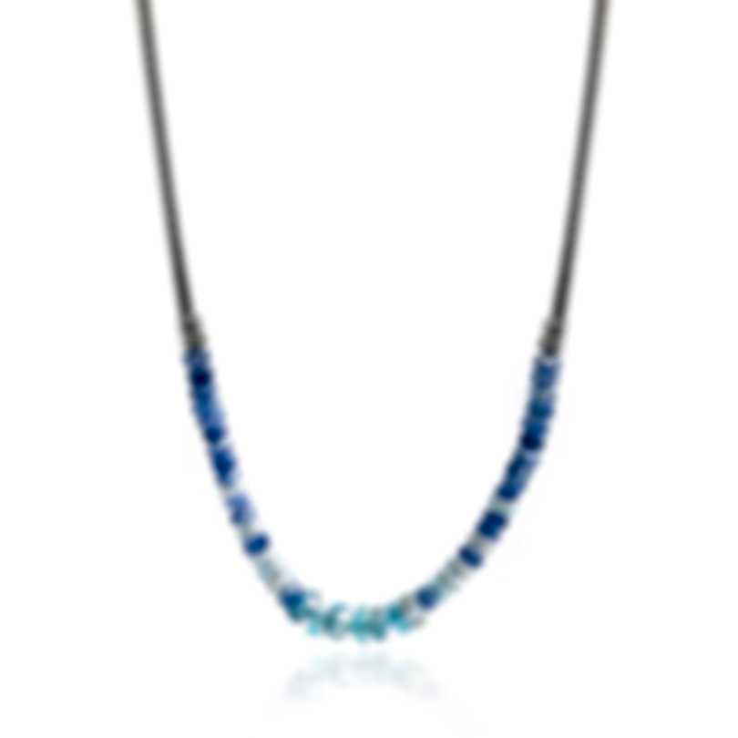 John Hardy Classic Chain Sterling Silver And Aquamarine Necklace NBS902241AQKNX16-18