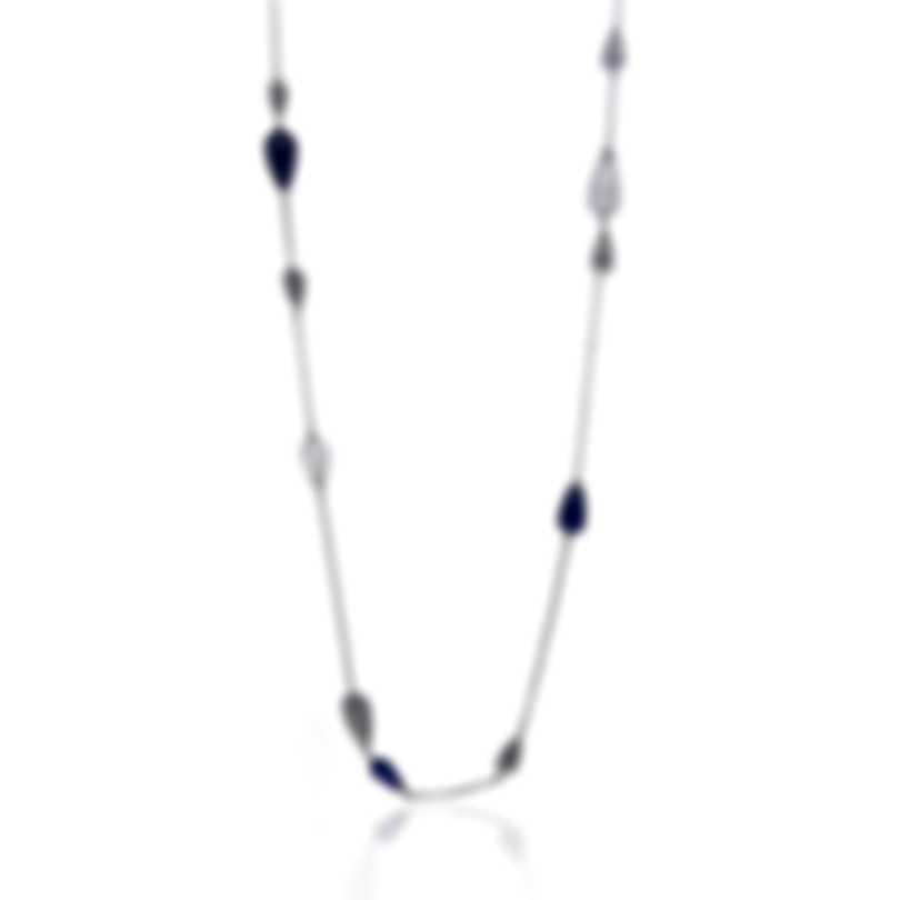 John Hardy Classic Chain Silver And Lapis Lazuli Necklace NBS951401LPZRMOX36