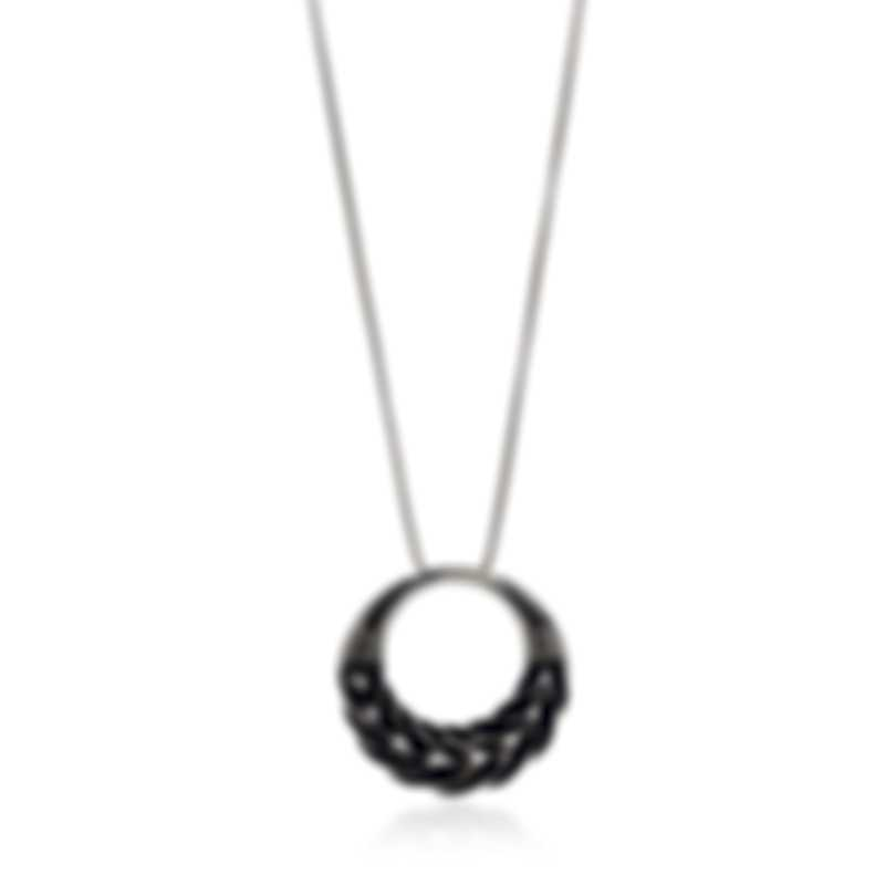 John Hardy Classic Chain Sterling Silver Black Spinel Necklace NBS951434BLSX32