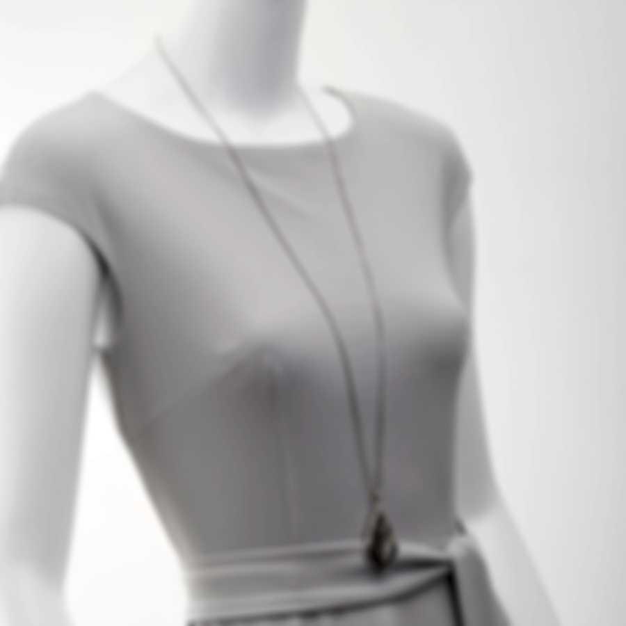 John Hardy Modern Chain Silver And Black Sapphire Necklace NBS951354BHBLSX36