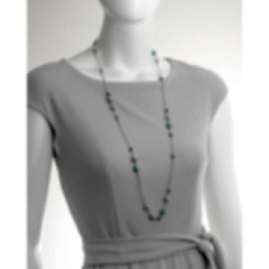 John Hardy Sterling Silver Natural Arizona Turquoise Necklace NBS396411TQSBTX36