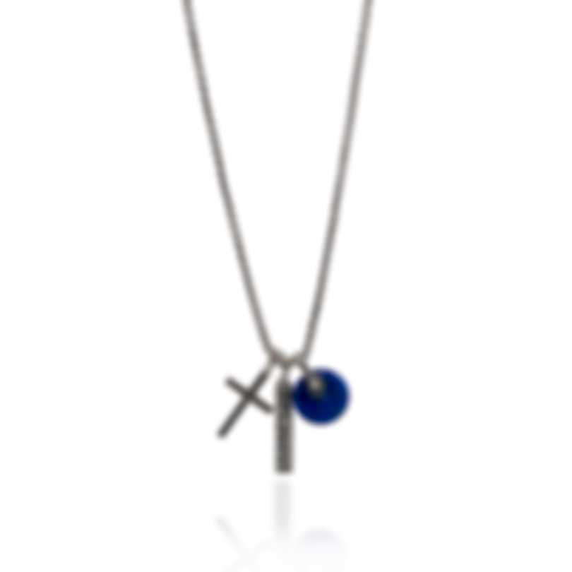 John Hardy Classic Chain Sterling Silver Lapis Lazuli Necklace NMS900631LPZX26