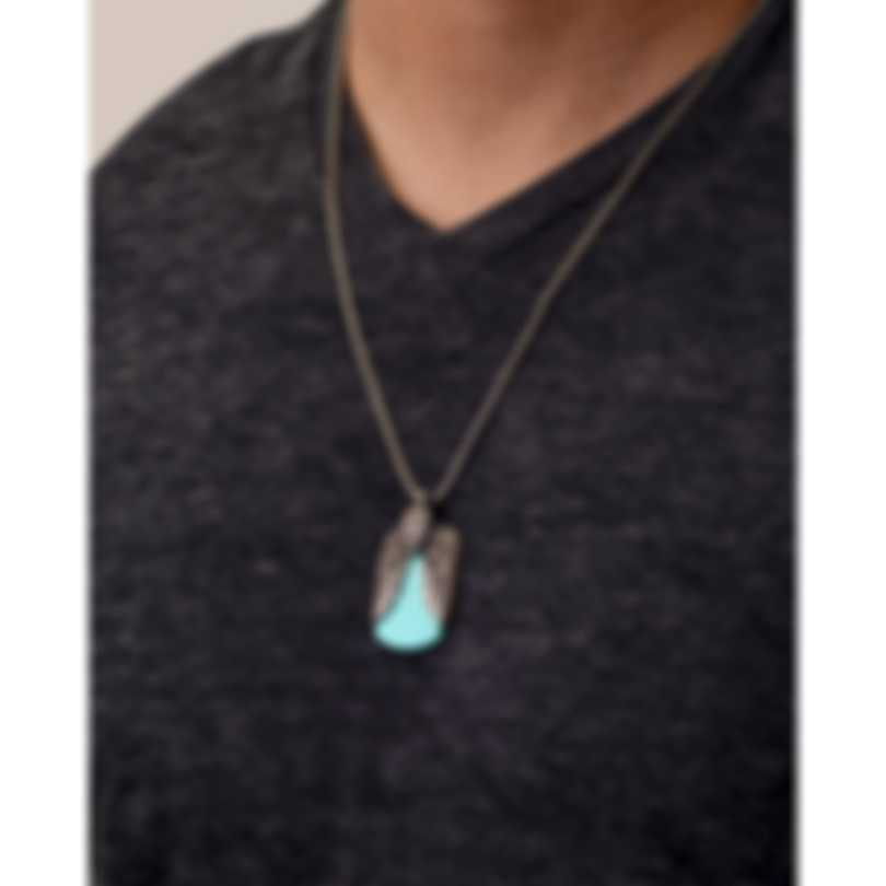 John Hardy Legends Eagle Sterling Silver, Turquoise Pyrite Necklace NMS902801TQPX24