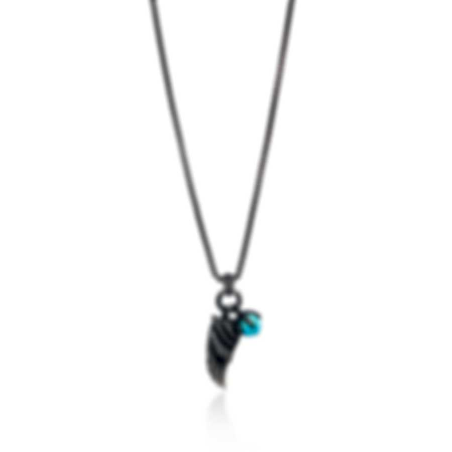 John Hardy Legends Eagle Sterling Silver, Turquoise Pyrite Necklace NMS902811TQPX24
