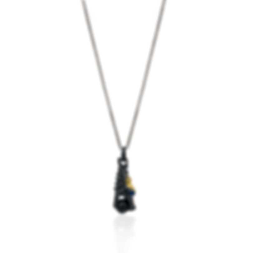 John Hardy Legends Naga Silver Gold Sapphire Necklace NZS601754BRDBHBLSX36