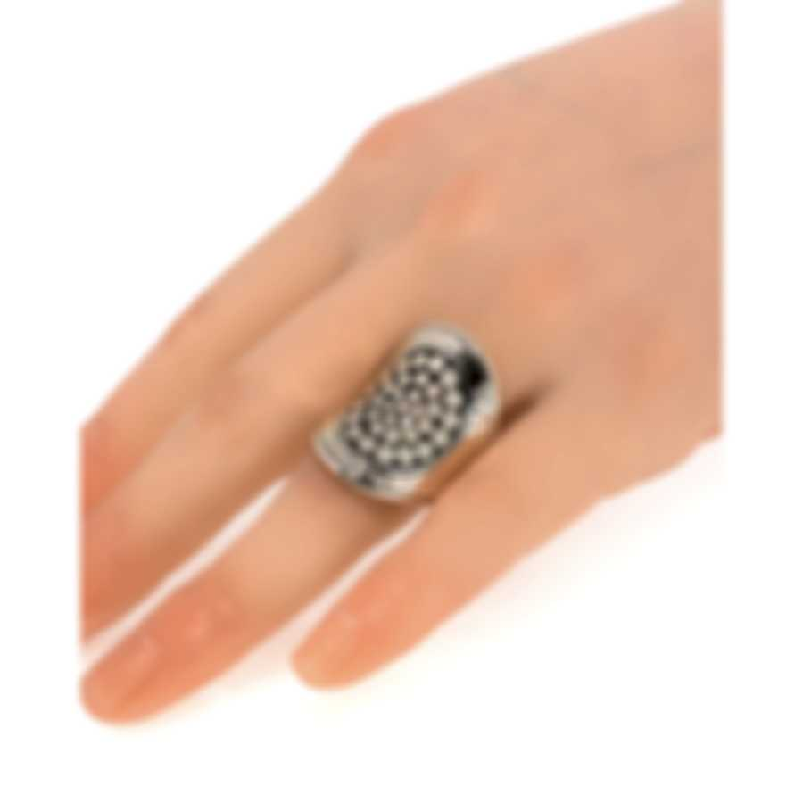 John Hardy Dot Moon Phase Sterling Silver Ring Sz 7 RB30007X7