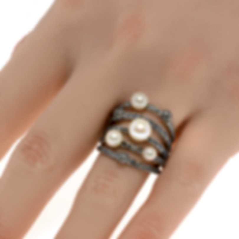 John Hardy Sterling Silver And Pearl Ring Sz 7 RB900007X7