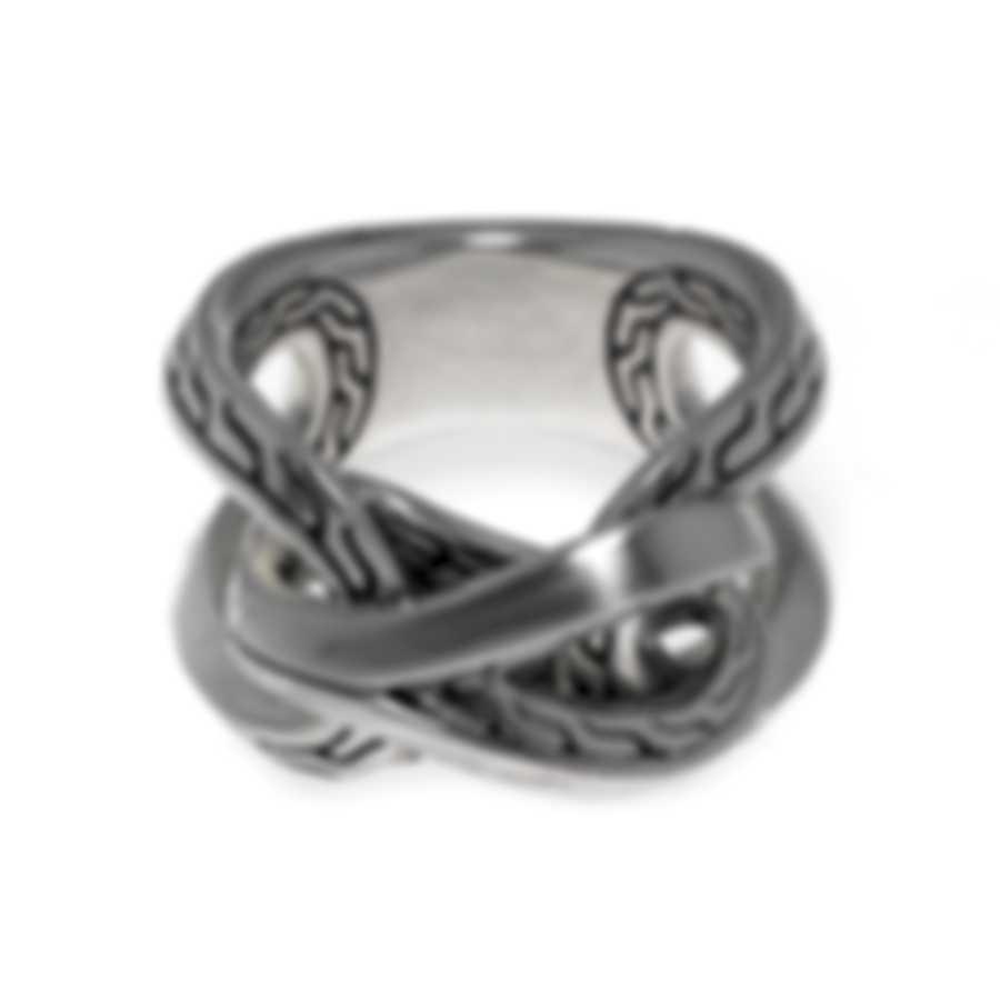 John Hardy Classic Chain Sterling Silver Ring Sz 7 RB900375X7