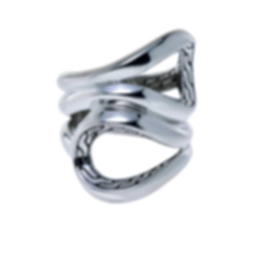 John Hardy Classic Chain Sterling Silver Ring Sz 7 RB90134X7