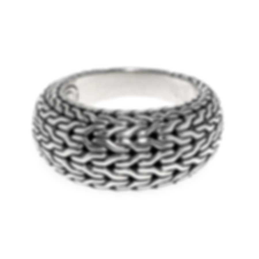 John Hardy Classic Chain Sterling Silver Ring Sz 6 RB93300X6