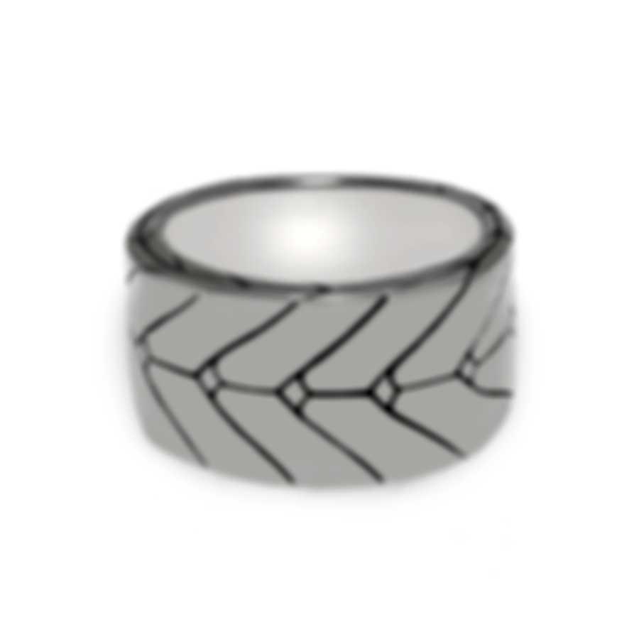 John Hardy Sterling Silver Ring Sz 10 RB933363X10