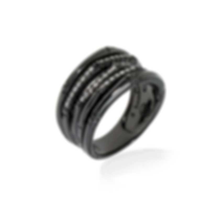 John Hardy Sterling Silver Diamond 0.20ct Bamboo Ring Sz 6 RBP57872BRDDIX6