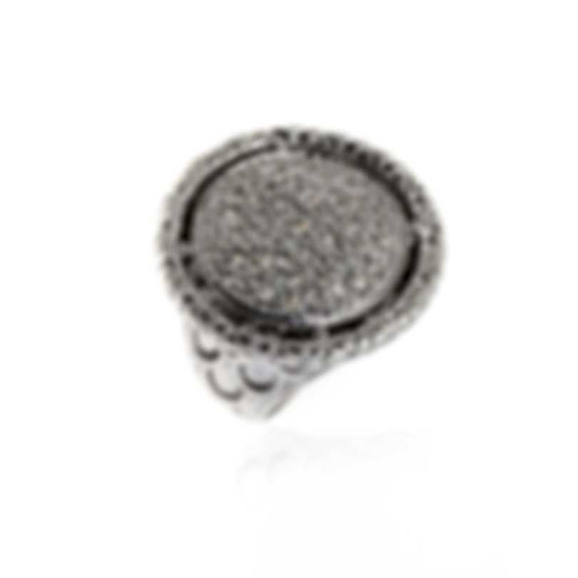 John Hardy Sterling Silver Diamond0.65ct Legends Ring Sz 7 RBP65020DIX7
