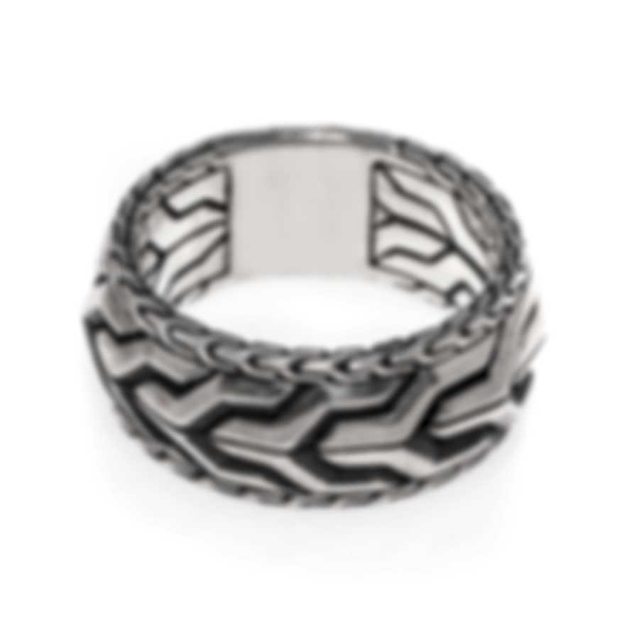 John Hardy Asli Sterling Silver Ring Sz 10 RM90305X10