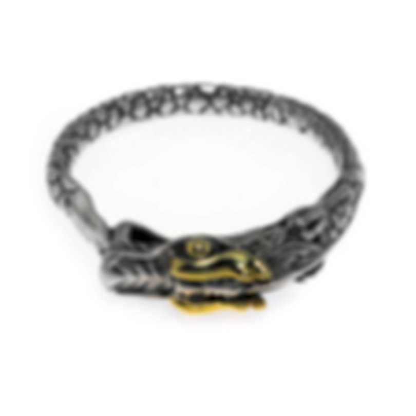 John Hardy Legends Naga Sterling Silver & Yellow Gold Ring Sz 10 RZ65529X10