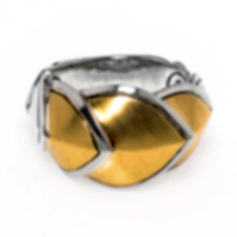 John Hardy Legends Naga Sterling Silver And 18k Yellow Gold Ring Sz 7 RZ6647BHX7
