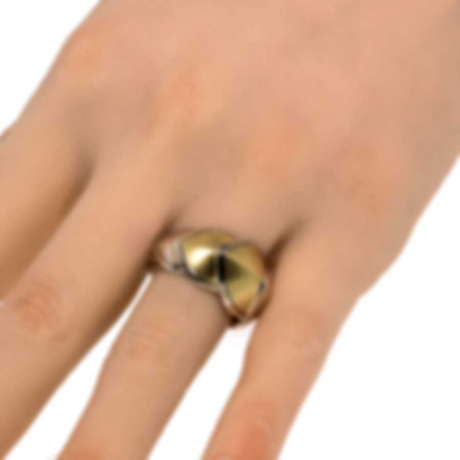 John Hardy Legends Naga Sterling Silver And 18k Yellow Gold Ring Sz 6 RZ6647BHX6