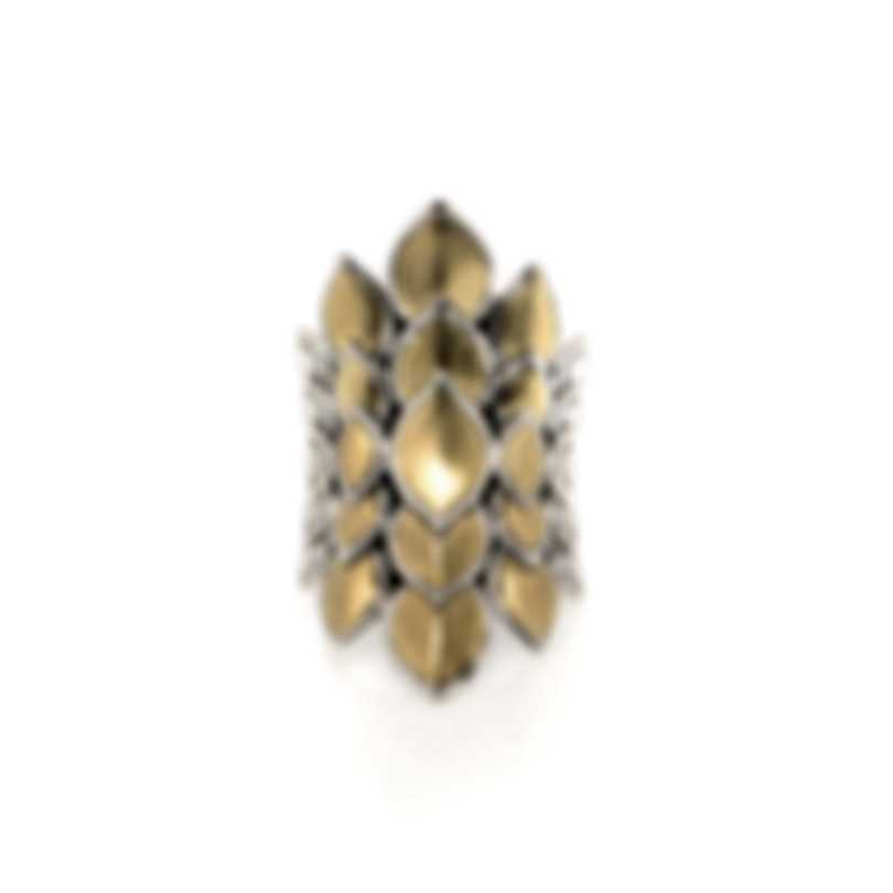 John Hardy Legends Naga Sterling Silver And Gold Ring Sz 7 RZ60124BHX7