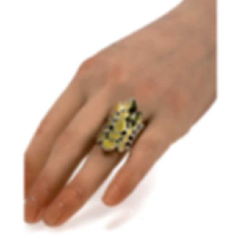 John Hardy Legends Naga Sterling Silver And 18k Yellow Gold Ring Sz 7 RZ60124BHX7
