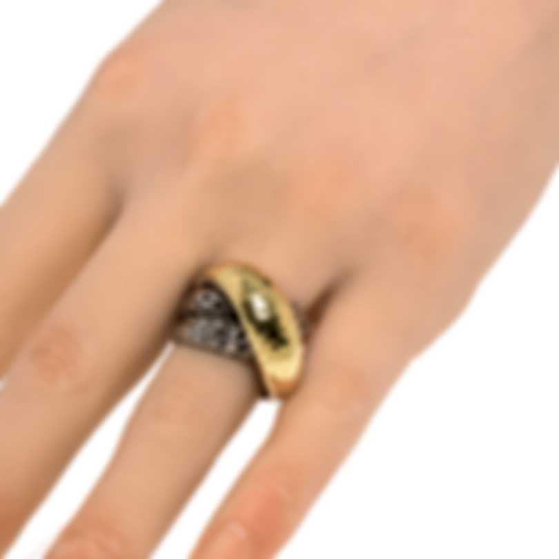 John Hardy Classic Sterling Silver And 18k Gold Ring Sz 7 RZ90238X7